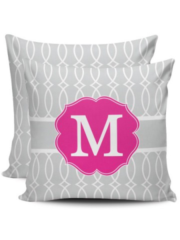 Birth Pillow - Gray and blue oil Chevron
